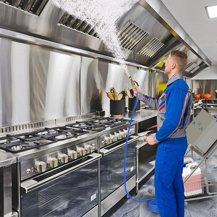 Aguair foamer in an industrial kitchen